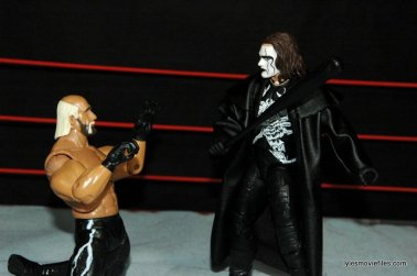 Sting figure WWE Mattel Defining Moments - making Hollywood Hogan beg off