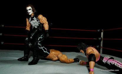 Sting figure WWE Mattel Defining Moments - making Hollywood Hogan submit Starrcade 97
