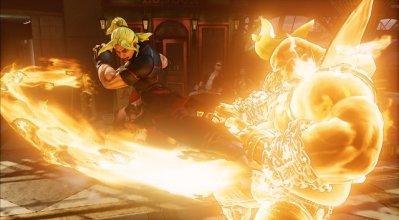 Street Fighter V - Ken fiery hurricane kick