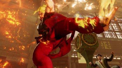 Street Fighter V - Ken hurricane kick