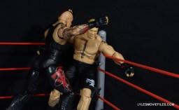 Wrestlemania 30 Undertaker Mattel -corner clothesline onto Brock Lesnar