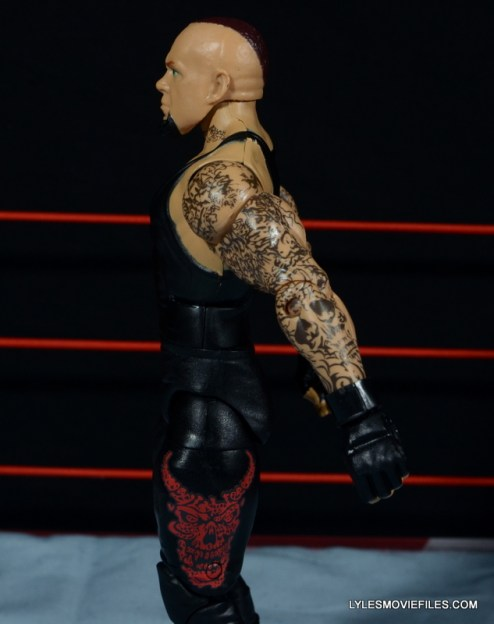 Wrestlemania 30 Undertaker Mattel -left side detail