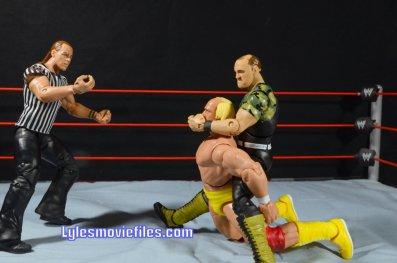 Sgt. Slaughter WWE Hall of Fame figure - camel clutch to Hulk Hogan