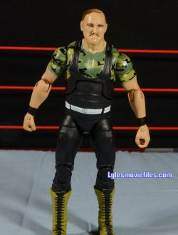 Sgt. Slaughter WWE Hall of Fame figure - front detail