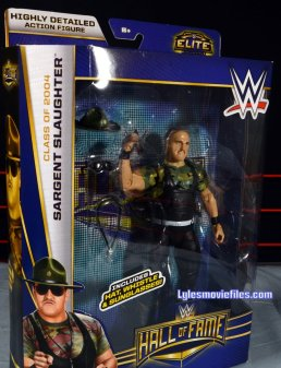 Sgt. Slaughter WWE Hall of Fame figure - package side