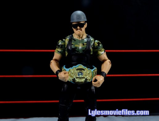Sgt. Slaughter WWE Hall of Fame figure - with helmet and world title