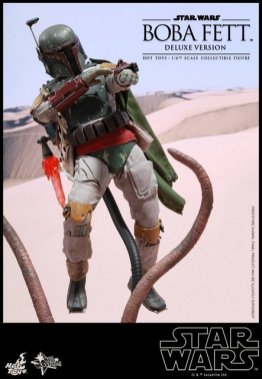 Boba Fett Hot Toys figure -aiming wire