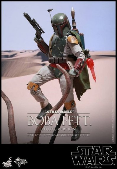 Boba Fett Hot Toys figure -hovering