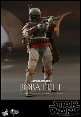 Boba Fett Hot Toys figure -taking aim