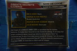GI Joe Gung-Ho vs Cobra Shadow Guard -CSG file card different