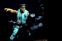GI Joe Gung-Ho vs Cobra Shadow Guard -punching Shadow Guard