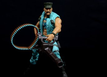 GI Joe Gung-Ho vs Cobra Shadow Guard -with heavy machine gun