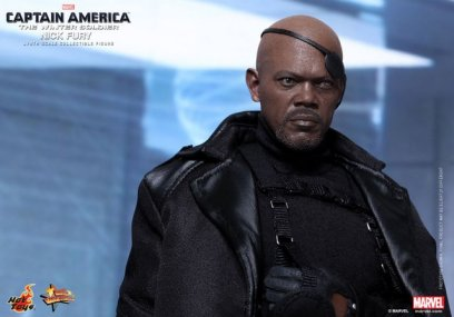 Hot Toys Captain America Winter Solider Nick Fury figure -patch up
