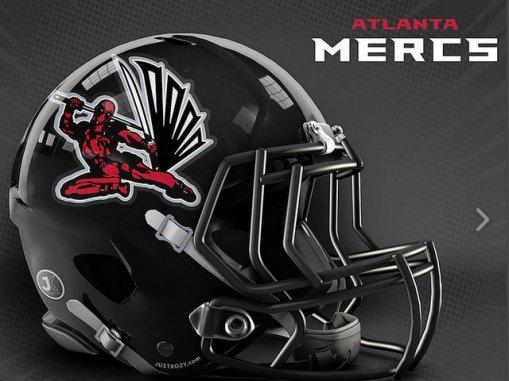 JustKozy MARVEL NFL Helmets - Atlanta Mercs