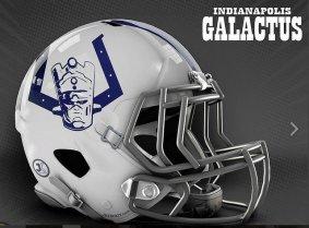 JustKozy MARVEL NFL Helmets - Indianapolis Galactus