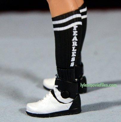 Nikki Bella Mattel WWE figure - fearless sock detail