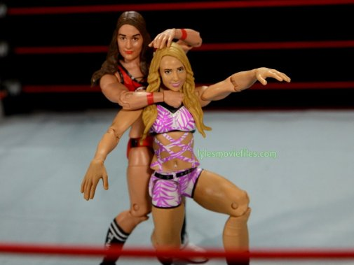 Nikki Bella Mattel WWE figure - putting Emma in the sleeper
