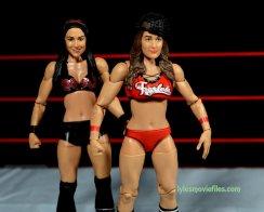 Nikki Bella Mattel WWE figure - with Brie Bella