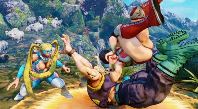 Street Fighter V - R. Mika - nadeshiko_elbow_drop.png -