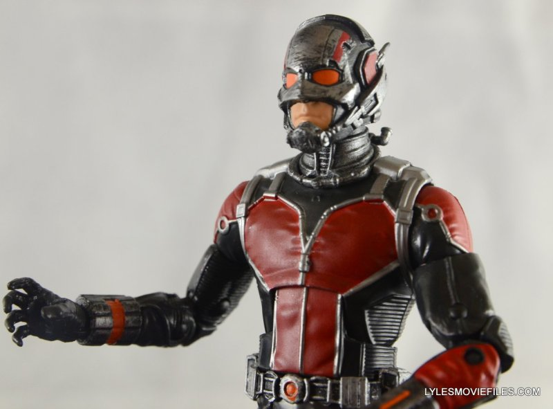 Ant-Man Marvel Legends figure review - outfit closeup
