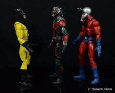 Ant-Man Marvel Legends figure review - scale shot with Yellowjacket and Ant Man
