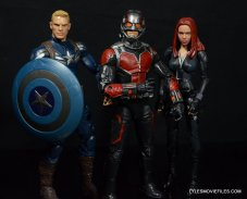 Ant-Man Marvel Legends figure review - with Captain America and Black Widow