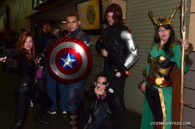 Baltimore Comic Con 2015 cosplay -Captain America Winter Soldier Black Widow, Nick Fury and Loki