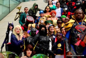 Baltimore Comic Con 2015 cosplay -close up shot of cosplayers on steps