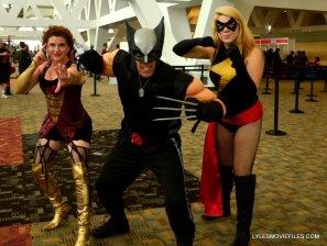 Baltimore Comic Con 2015 cosplay -Dark Phoenix, Wolverine and Warbird