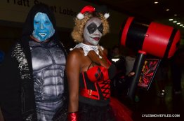 Baltimore Comic Con 2015 cosplay - Electro and Harley Quinn close up