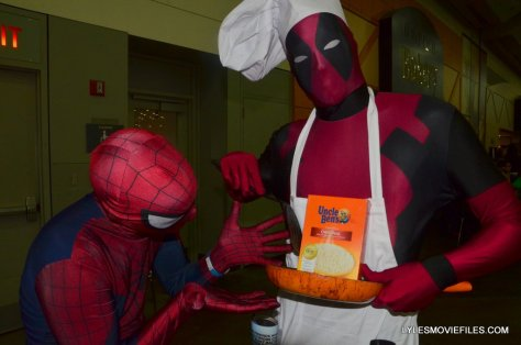 Baltimore Comic Con 2015 cosplay -Spider-Man and Deadpool with Uncle Ben