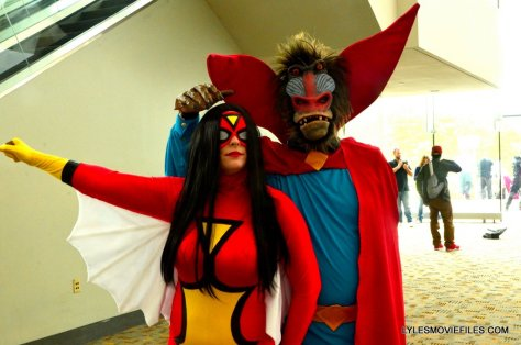 Baltimore Comic Con 2015 cosplay -Spider-Woman and Mandril