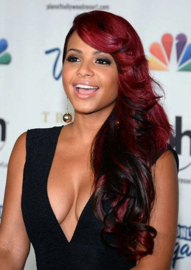 Christina Milian - red hair