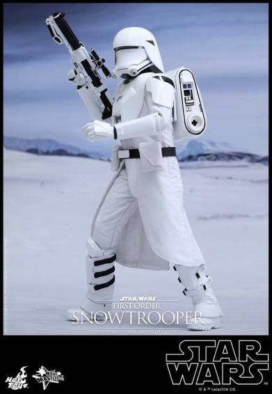 Hot Toys Star Wars Force Attacks - First Order Snowtrooper -raising gun
