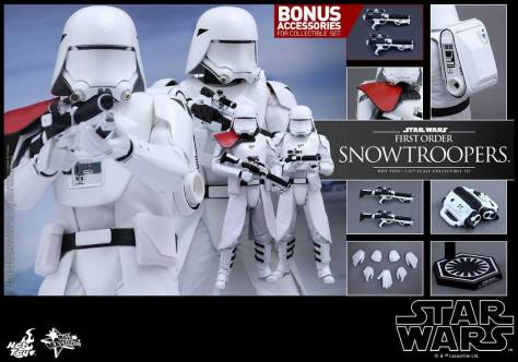 Hot Toys Star Wars Force Attacks - First Order Snowtrooper set -collage