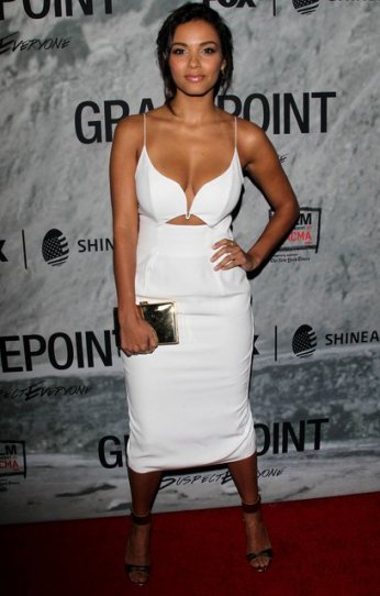 Jessica Lucas -white outfit
