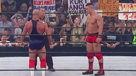 John Cena debut vs Kurt Angle