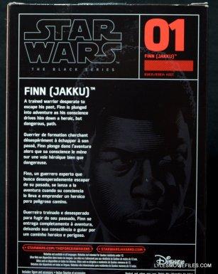 Star Wars Black Series - Finn review -back package