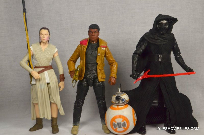 Star Wars Black Series Force Awakens Rey and BB-8 -scale with Finn and Kylo-Ren