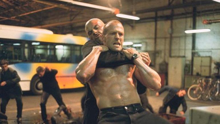 The Transporter - Jason Statham oil fighting