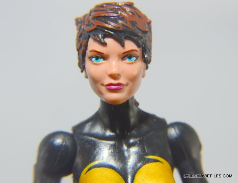 Wasp Marvel Legends figure review -face close up