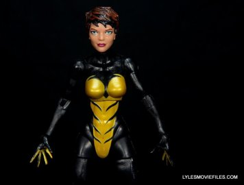 Wasp Marvel Legends figure review - front close up