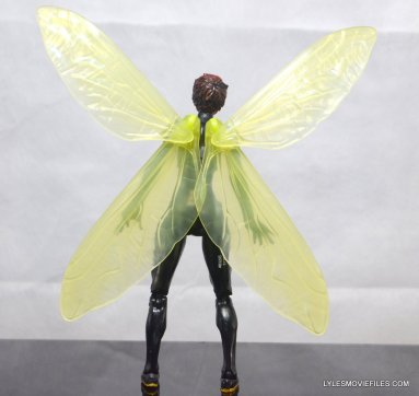 Wasp Marvel Legends figure review -rear with wings