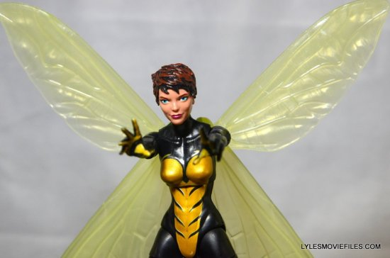 Wasp Marvel Legends figure review -wings up