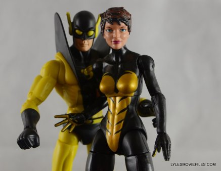 Wasp Marvel Legends figure review - with Hasbro Yellowjacket