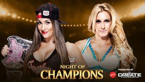 WWE Night of Champions - Nikki Bella vs Charlotte