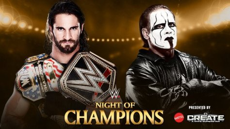 WWE Night of Champions - Seth Rollins vs Sting