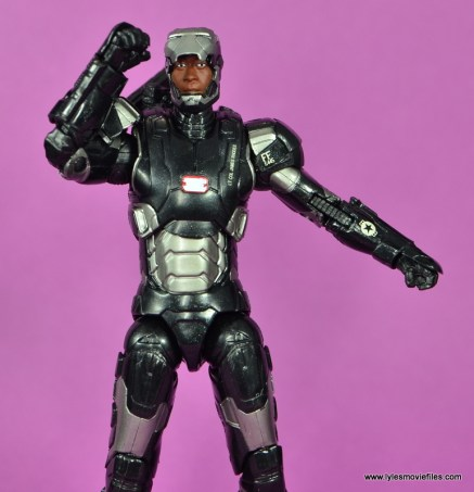 Marvel Legends Age of Ultron War Machine figure review - lifting mask
