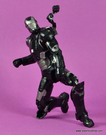 Marvel Legends Age of Ultron War Machine figure review - on knees