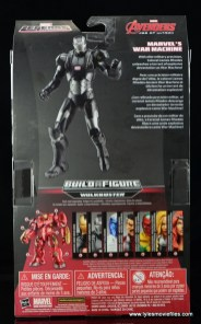 Marvel Legends Age of Ultron War Machine figure review - package rear